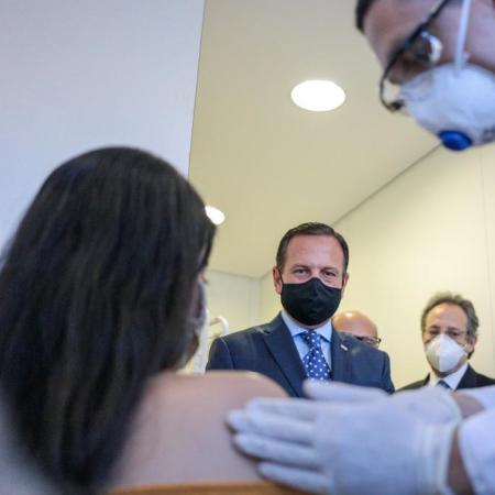 Governador de São Paulo, João Doria (PSDB), acompanha testes da vacina em parceria com a China