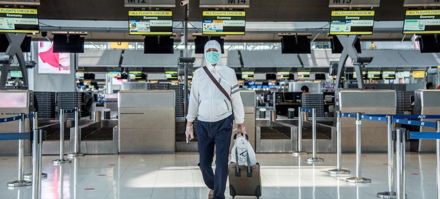 Movimento no aeroporto internacional da Tailândia. Foto: Reprodução/ONU